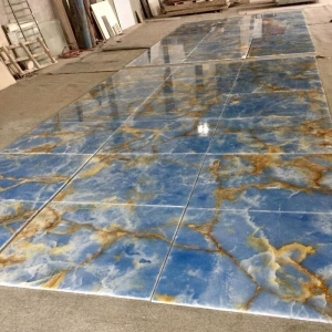 China Tile & Slab BOT001 Blue Onyx Tiles on sale