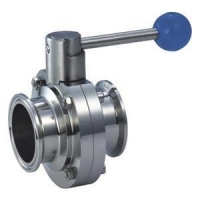 China Sanitary Clamped Butterfly Valve on sale
