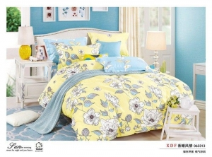 China Plain Dyed 4 Piece Colorful Bedding Sets , Queen Size Firefighter Bedding Sets on sale