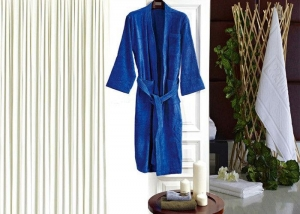 China Colored Luxury Hotel Patterned Toweling Bath Robe , Womens Luxury Dressing Gown on sale