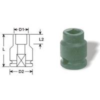 "Universal Impact Socket, 6-point 1/2"" Square Drive With 4-Point Female Sockets Impact Sockets"
