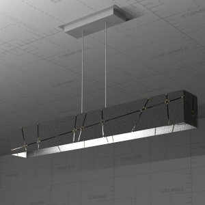 China Crossroads Linear Suspension Lamp 3D Model on sale