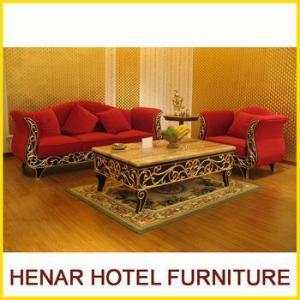 China solid wood wedding sofa set furniture golden color on sale