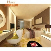 Best price faux leather modern room furniture for JW hotel