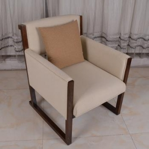 China Modern luxury dining reception furniture hotel lobby wooden chair on sale