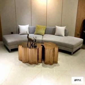 China Elegant Hotel Living Room Furniture Sofa Two Piece Separate Sofa Set on sale