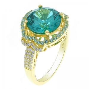 China Fairytale Ladies 925 Sterling Silver Paraiba Ring on sale