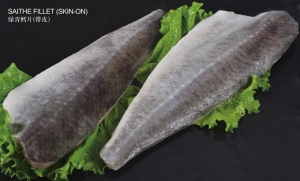 China fish Product - SAITHE FILLET(SKIN-ON) on sale