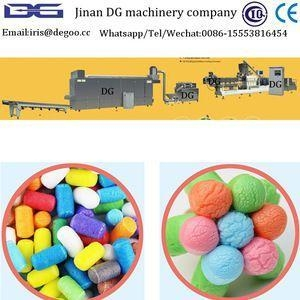 China Biodegradable corn starch extruded magic corn production line from Jinan DG machinery wholesale
