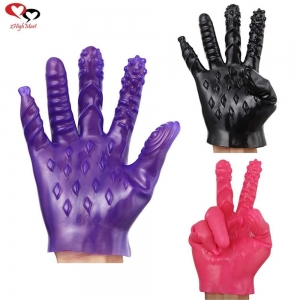 China For women 5 Vibrator flirting magic Glove on sale