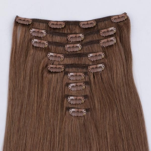 China Real hair clip in extensions remy hair JF299 on sale