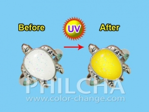 China products Larger photo Stylish UV Ring, Changes Color Under the Sun, with Adjustable Ring Size on sale