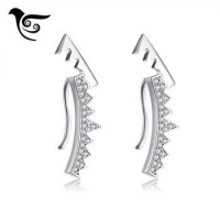 OSDE199 S925 Stud Earring Jewellery with AAAQuality Cubic Zirconia Desinger Jewerly Rhodium Plated