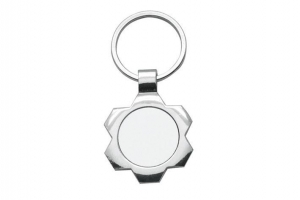 China A27 Metal Keychain Sublimation Blanks on sale
