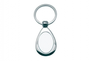 China Oval Metal Keychain Sublimation Blanks on sale
