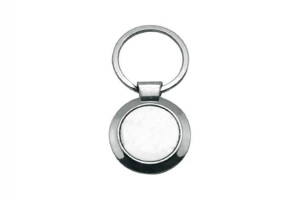 China Round Metal Keychain Sublimation Blanks on sale