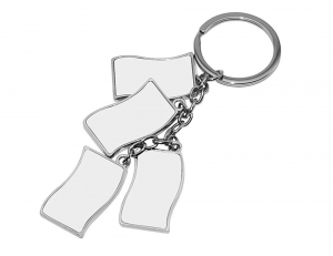 China Sublimation Metal Keychain Sublimation Blanks on sale