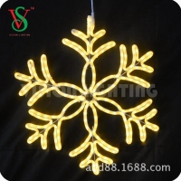 China 2D Motif Lights Indoor and Outdoor Decorative Led Christmas Snowflake Light on sale