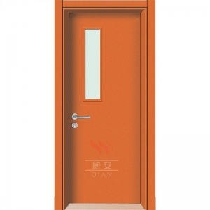 China Engineered project HPL doors engineered flush orange wood open door glass inserts on sale