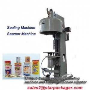 China semi automatic aluminum can sealing machine for drink shop on sale