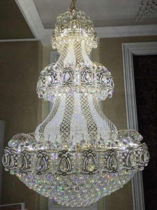 China RGB WIFI lustre LED large size pendant pendant lamp,modern crystal chandelier YCC-115 on sale