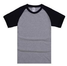 China Hot Sale color block casual style Cotton T Shirt on sale