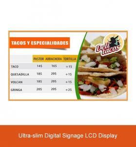 China Ultra-thin Restaurant-use Network Digital Signage Menu Boards on sale