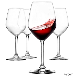 China Italian Red Wine Glasses - 18 Ounce - Lead Free - Wine Glass Set of 4, Clear on sale