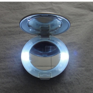 China Lighted Cosmetic Mirror with Round Shape Suitable for Promotional Gift Purposes on sale