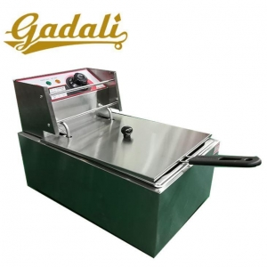 China Commercial Stainless Steel Table Top Industrial Single Tank Fish Chips 6 L on sale