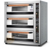 China CE Approved Commercial Triple Deck Six Plates Bread Cake Baking GAS Oven for Sale for sale