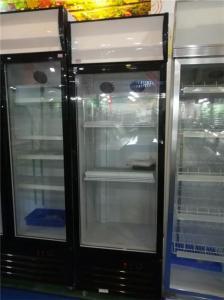 China Supermarket Glass Door Beverage Fridge Display Showcase on sale
