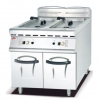 China Gas Fryer in 2 Tank and 2 Basket with Cabinet 900 for sale