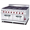 China Gas Range with 8 Burner and Gas Oven 900 for sale