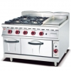 China Gas Range with 4 Burner Griddle and Gas Oven 900 for sale