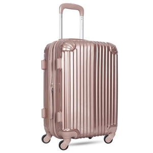 China Elegant Gold/grey/yellow abs pc 3 piece trolley pc luggage set on sale