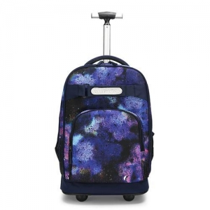 China rolling school trolley bag backpack with wheels traveling case for children women on sale