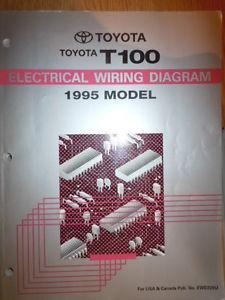 China 1995 TOYOTA T100 ELECTRICAL WIRING DIAGRAM SERVICE MANUAL (RX606) on sale