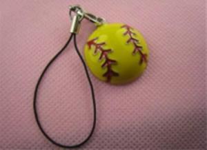 China Softball Phone Accessories Charm Key Ring on sale