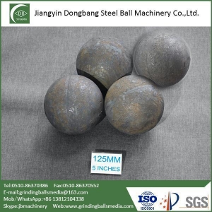 China 125mm Forged Steel Balls for Iron Ore Mine on sale