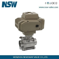 China 3PC Ball Valve with Electric Actuator on sale