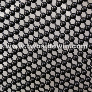 China Black Coating Metal Bead Curtain on sale