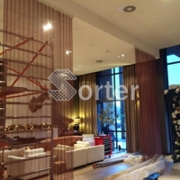 Restaurant Partition Woven Mesh Metal Coil Drapery