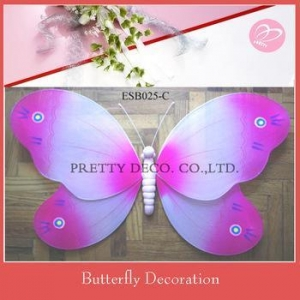 China Big size painting style nylon butterfly decorative items bed room on sale