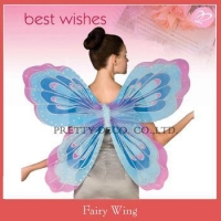 China Multi color paiting costume Adult fairy butterfly wings lady party costumes on sale