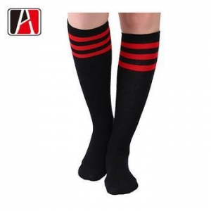 China Man Soft Knitting Crazy Thigh Custom Sublimation Knee High Waterproof Sock Woman on sale
