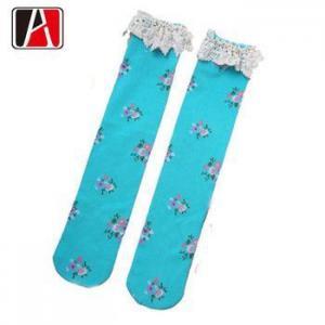 China 100%Cotton Design Cotton Kid Knee High Sock on sale