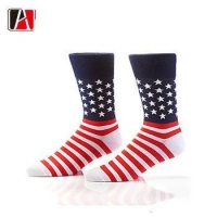 China America style cotton socks man american flag socks men dress on sale