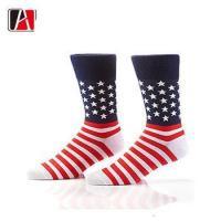 China America style cotton socks man american flag socks men dress on sale