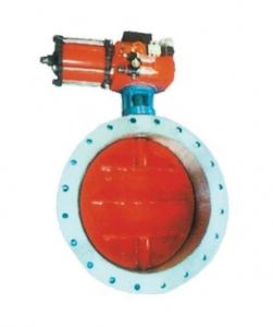 China soft seal butterfly valve  Flange Type Pneumatic Aeration Butterfly Valve D641W-1/2.5/6C on sale